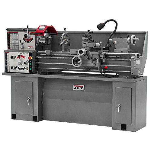 Jet 321357A GHB-1340A 13-Inch Swing by 40-Inch between Centers 230-Volt 1 Phase Geared Head Benchtop Metalworking Lathe (shown with optional stand part number 321443AK)