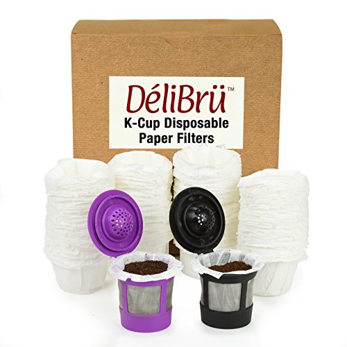 Paper Filters for Reusable Coffee Pods Fits All Brands Compatible With All - Disposable Paper Filter (300/Box) by Delibru