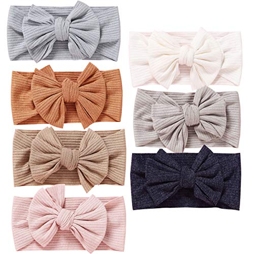 Baby Girl Headbands and Bows Classic Knot Nylon Headwrap Super Soft Stretchy Nylon Hair bands for Newborn Toddler, Children (MZ118)