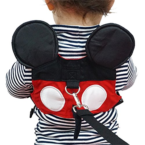 Toddler Leash & Harness, Yimidear Child Anti Lost Leash Baby, Red, Size No Size