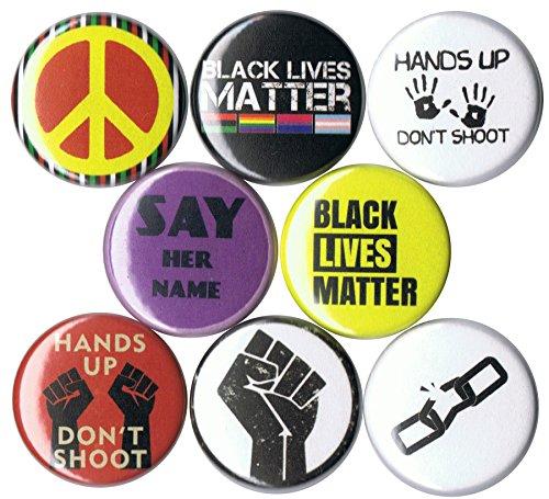 Set of 8 Black Lives Matter 1' Buttons/Pins