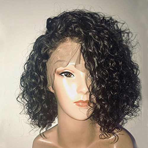 Dorosy Hair Full Lace Human Hair Wigs for Black Women 150% Density Remy Hair with Natural Hairline Curly Hair with Baby Hair(12 inch with 150% density)