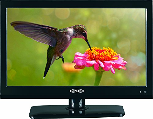Jensen JTV1917DVDC 19' Inch RV LCD LED TV with Build-In DVD Player, High Performance Wide 16:9 LCD Panel, Resolution 1366 x 768, Integrated HDTV (ATSC) Tuner, HDTV Ready (1080p, 720p, 480p), 12V DC