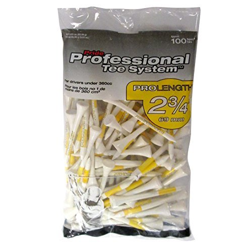 Pride Professional Tee System, 2-3/4 inch ProLength Tee, 100 count, White