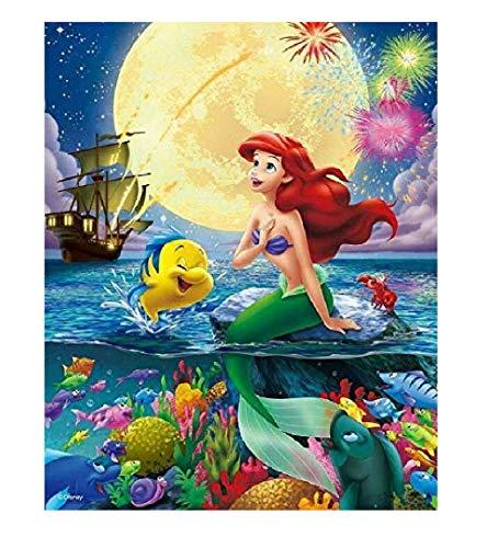 Karyees 16x20In Disney Princess Little Mermaid Ariel Paint by Numbers Kits DIY Painting by Numbers DIY Canvas Painting by Numbers Acrylic Painting Kits for Home Wall Decor Disney Princess Mermaid