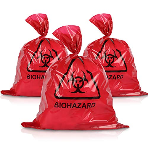 yingyue Garbage Bag,Red Disposable High Temperature and High Pressure Waste Garbage Bag M