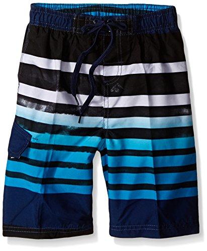 Kanu Surf Boys' Big Quick Dry UPF 50+ Beach Swim Trunk, Reflection Navy, 8
