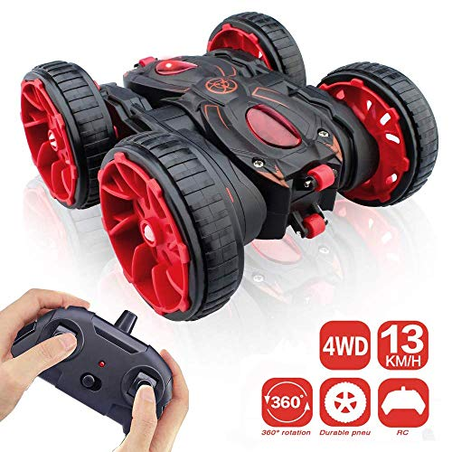 MaxTronic Remote Control Stunt Car, RC Car Toy All Terrain Off Road 4WD Double Sided Running, 360° Rotation & Flips Remote Control Car Toy Gift for Boys & Girls Aged 3 4 5 6 7 8 9 10 11 12