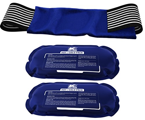 Ice Pack (2-Piece Set)  Reusable Hot and Cold Therapy Gel Wrap Support Injury Recovery, Alleviate Joint and Muscle Pain  Rotator Cuff, Knees, Back & More