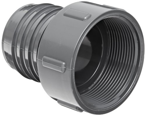 Spears 1435 Series PVC Tube Fitting, Adapter, Schedule 40, Gray, 2' Barbed x NPT Female