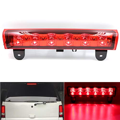 Third 3rd Brake Tail Light Center High Mount Stop Light LED Replacement fit for 2000-2006 Chevy Suburban Tahoe(Red)