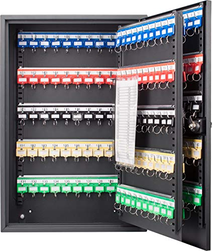 BARSKA CB13266 Combination Lock 200 Position Adjustable Key Cabinet Lock Box Black