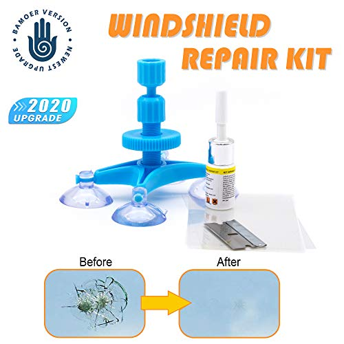 NEW RERSIONWindshield Repair Kit,Newest Generation Car Windshield Repair Tools with Windshield Repair Resin for Auto Glass Windshield Crack Chip Scratch, Chips, Cracks, Bulll's-Eyes and Stars
