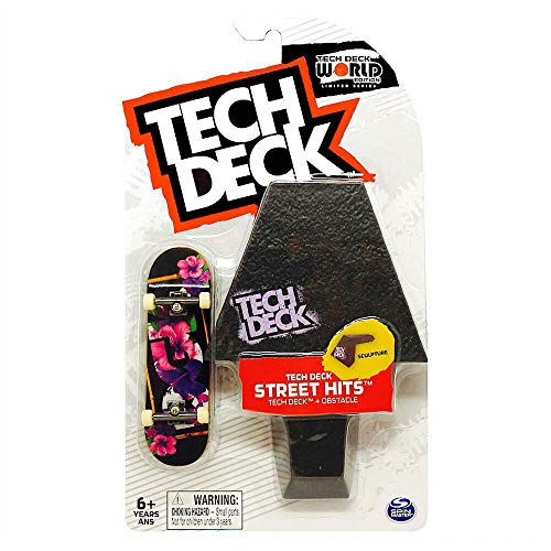 TECH DECK Street Hits World Edition Limited Series DGK Skateboards Tropics Complete Fingerboard and Sculpture Obstacle