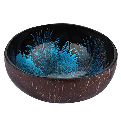 BESTONZON Coconut Bowls Natural Coconut Shell Storage Bowl Coconut Serving Bowls Candy Container Nuts Holder(About 5.3 x 2.3 Inch)