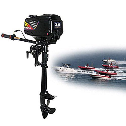CNCEST DY19BRIGHT 2 Stroke 3.6 HP Outboard Motor 360 Degree Steering Rotation Short Shaft US Stock