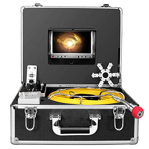 Pipe Camera,IHBUDS Sewer Camera 50M/165ft Cable Pipe Inspection Camera with DVR Recorder Video System 7 Inch TFT LCD Monitor 1000TVL Sony CCD Plumbing Camera Industrial Endoscope (50M-with DVR)