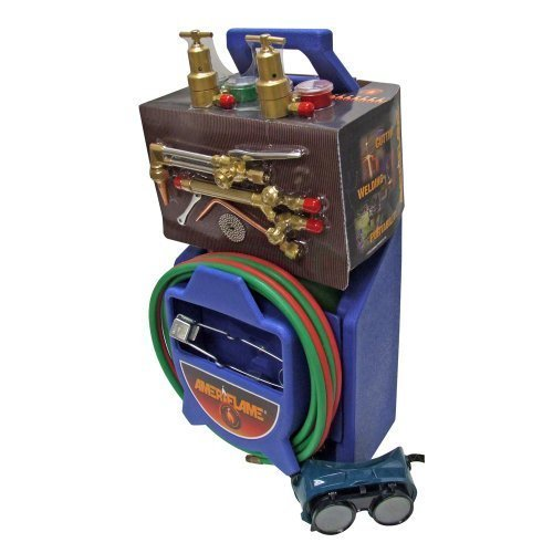 Ameriflame TI350 Medium/Heavy Duty Portable Welding/Cutting/Brazing Outfit with Plastic Carrying Stand