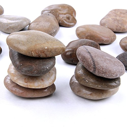 4 Pounds 2-3 inch Natural Rocks for Painting Kindness rocks Crafting Party Pack Bundle River Stones for Painting Crafts – Natural Smooth Surface Arts & Crafting Rock Painting Supplies for Kid Painters