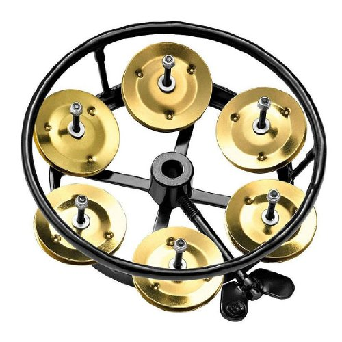 Meinl Percussion THH1B-BK Professional Series Hi Hat Tambourine, Single Row Brass