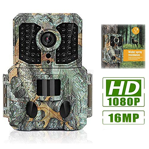 Clobo Trail Game Camera, 16MP 1080P Waterproof Wildlife Hunting Camera with Night Vision Motion Activated 120°Wide Angle Lens,0.2s Trigger Speed,2.4' LCD and 48 IR LEDs