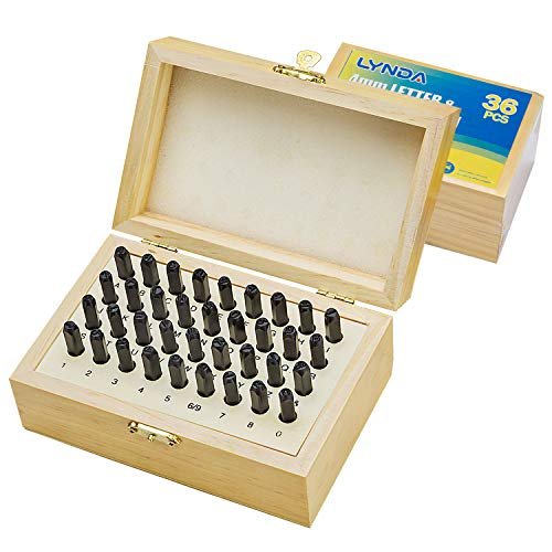 Letter and Number Metal Stamping Kit – for Clear and Precise Imprints - 5/32-Inch Steel Alloy Punching Set for Leather, Clay, Plastics, Metal, Wood – Set with A-Z and 0-9