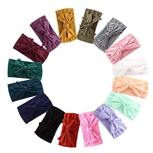 Baby Nylon Headbands Hairbands Hair Bow Elastics for Baby Girls Newborn Infant Toddlers Kids (Pb-16)