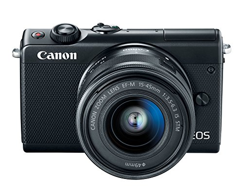 Canon EOS M100 Mirrorless Camera w/15-45mm Lens - Wi-Fi, Bluetooth, and NFC Enabled (Black) (Renewed)