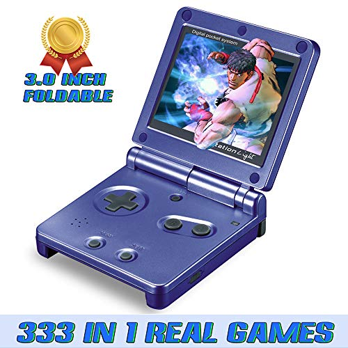 Ruihoxin Handheld Game Console, 333 Classic Games 3.0 inch HD LCD Screen Portable Video Game, Retro Game Console can be Played on TV, Best Gift for Children and Adults, Gifts. (Blue)
