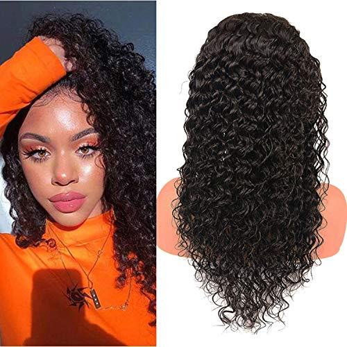 Beauty Grace Deep Wave Lace Closure Human Hair Wigs 9A Brazilian Virgin 20Inch Human Hair Wigs for Fashion Women Natural Clolor(20inches)