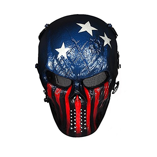 OutdoorMaster Airsoft Mask - Full Face Mask with Mesh Eye Protection (Captain)