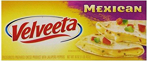 Kraft Velveeta Mexican Cheese 16oz Loaves (Pack of 3)