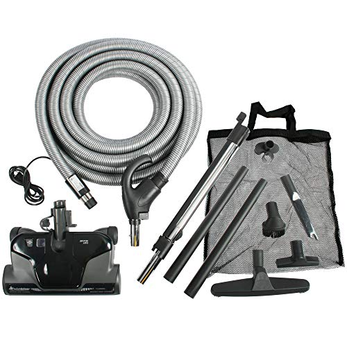 Cen-Tec Systems 94060 Premium Total Control Central Vacuum Electric Powerhead Package with 30 Foot Hose, Black