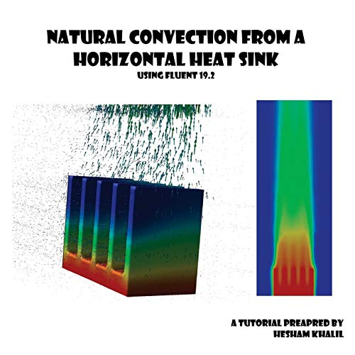 Natural Convection from a Horizontal Heat Sink: Numerical simulation using Fluent 19.2 (Fluent tutorials)