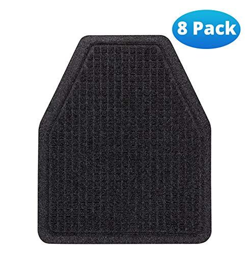 Urinal Mats (8 Pack) - Bathroom Urinal Mat for Floor - Dark Gray Splash Mats for Men's Restroom