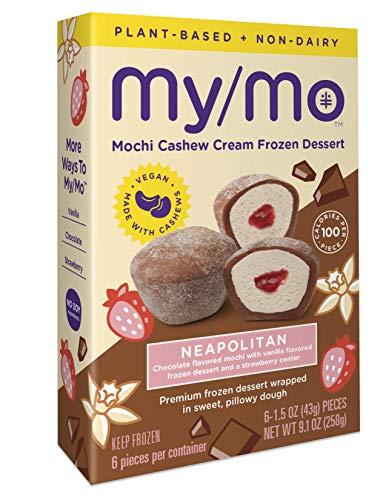 My/Mo Mochi Neapolitan Cashew Cream Frozen Dessert (6 x 6 ct. boxes) (Frozen)