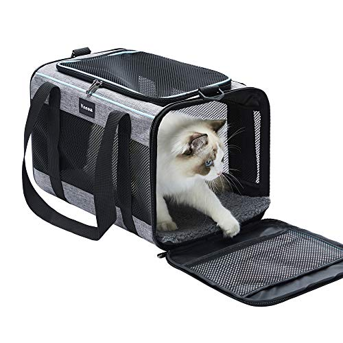Vceoa Airline Approved Soft-Sided Pet Travel Carrier for Dogs and Cats