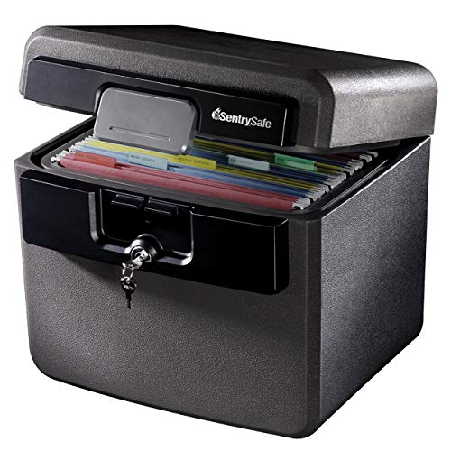 SentrySafe HD4100 Fireproof Safe and Waterproof Safe with Key Lock 0.65 Cubic Feet
