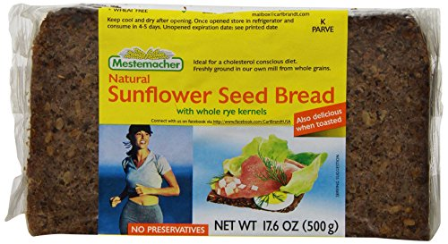 Mestemacher Bread, Sunflower Seed, 17.6-Ounce Packages (Pack of 12)