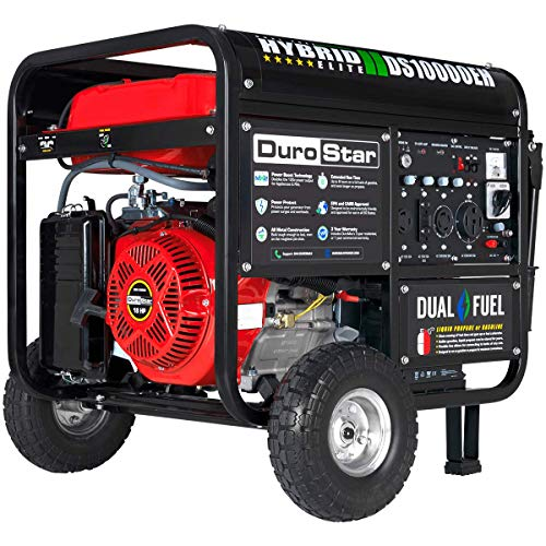 DuroStar DS10000EH 10000 Watt Portable Electric Start Dual Fuel Generator