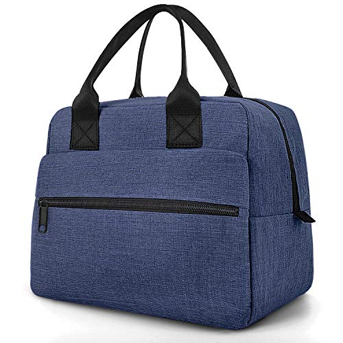 Insulated Lunch Bag for Adults, 12L Large Cool Bag for Women Packed Lunch Box for Men Blue