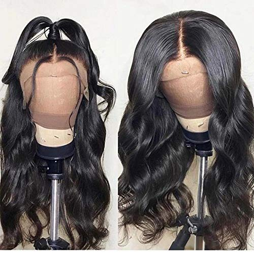 FASHION PLUS Hair Full Lace Wig Human Hair, Brazilian Virgin Human Hair Wigs With Baby Hair 150% Density Body Wave Full Lace Wigs For Women Natural Color (16 inch)