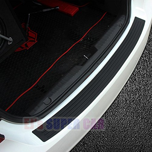 EJ's SUPER CAR Rear Bumper Protector Guard Universal Black Rubber Scratch,Resistant Trunk Door Entry Guards Accessory Trim Cover for SUV/Cars,Easy D.I.Y. Installation(35.8Inch)