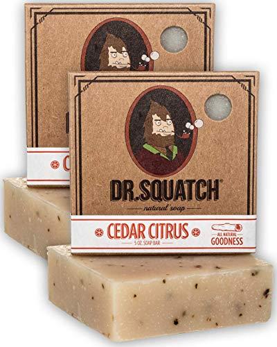Dr. Squatch Men's Soap 2-Pack Bundle – Cedar Citrus Scented Natural Bar Soap for Men – Skin Exfoliating and Body Nourishing – Organic Handmade in USA (2 Bar Set)