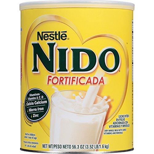 Nestle NIDO Fortificada Whole Milk Powder 56.4 oz. Canister Powdered Milk Mix