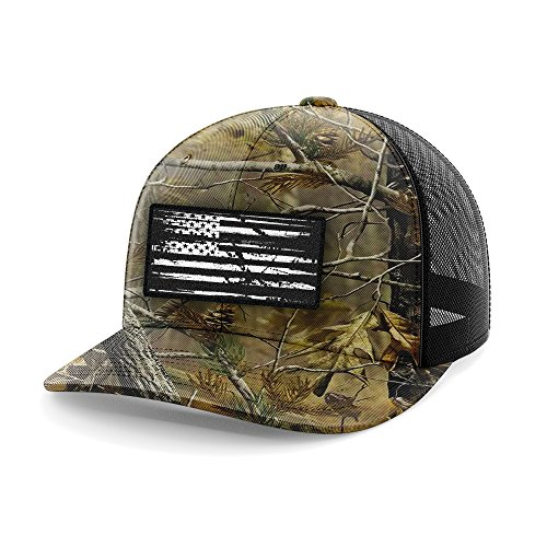 Tactical Pro Supply American Flag Flexfit Hat-USA Cap Realtree Flag Patch Flexfit (Large/X-Large)