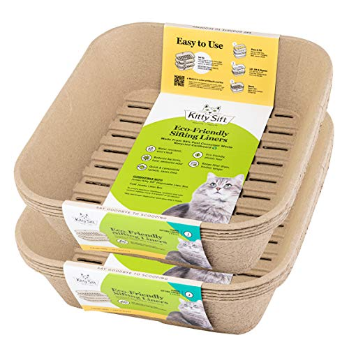 Kitty Sift Disposable Sifting Litter Box Liners (Jumbo Liner Refills, Pack of 10)