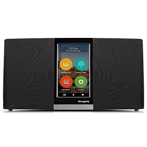 Sungale WiFi Internet Radio w/ 4.3' Easy-Operation Touchscreen, Listen to Your Favorite Music from Thousands of Internet Radio Station & Streaming Music
