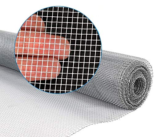PS Direct Hardware Cloth - 36 inch x 10 Foot with 1/8 Inch Galvanized mesh 27 Gauge. Great for Chicken Wire, Fence or Animal Control. Craft Projects Fine Soil Sifting or Gardening Enclosures, 1 Roll