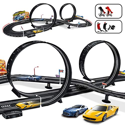 MAOXIAN Kids Toy-Electric Powered Slot Car Race Track Set Boys Toys for 3 4 5 6 7 8-16 Years Old Boy Girl Best Gifts
